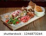 antipasto  antipasti   plate... | Shutterstock . vector #1246873264