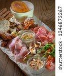 antipasto  antipasti   plate... | Shutterstock . vector #1246873267