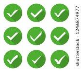 check mark green icons set... | Shutterstock .eps vector #1246874977