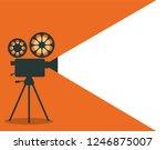 retro cinema projector vector... | Shutterstock .eps vector #1246875007
