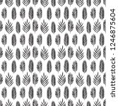hand drawn pattern with... | Shutterstock . vector #1246875604