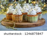 cupcakes with cream  silver... | Shutterstock . vector #1246875847