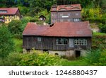 an old barn that is decaying... | Shutterstock . vector #1246880437