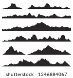 mountains silhouettes on the... | Shutterstock .eps vector #1246884067