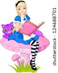 adorable,alice,art,artwork,beauty,blond,blue,book,cartoon,cat,cheshire,classic,clip,clip art,clip-art