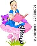 Girl Dressed Up Like Alice In...