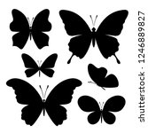 butterflies icons collection.... | Shutterstock .eps vector #1246889827
