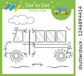 dot to dot drawing worksheets.... | Shutterstock .eps vector #1246894414