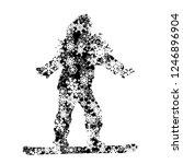 vector silhouette of girl who... | Shutterstock .eps vector #1246896904