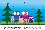 vector illustration of owl... | Shutterstock .eps vector #1246897204