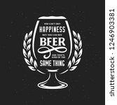beer related typography quote.... | Shutterstock .eps vector #1246903381