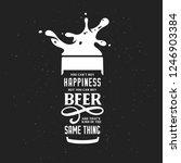 beer related typography quote.... | Shutterstock .eps vector #1246903384
