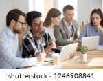 diverse millennial employees... | Shutterstock . vector #1246908841