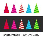set of varicoloured holiday cap ... | Shutterstock .eps vector #1246912387