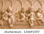 Statue Of 5 Little Angels...
