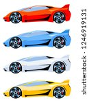 set of sport cars side view... | Shutterstock .eps vector #1246919131