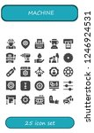 vector icons pack of 25 filled... | Shutterstock .eps vector #1246924531