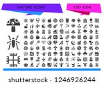 vector icons pack of 120 filled ... | Shutterstock .eps vector #1246926244