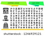 vector icons pack of 120 filled ...   Shutterstock .eps vector #1246929121