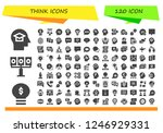 vector icons pack of 120 filled ... | Shutterstock .eps vector #1246929331