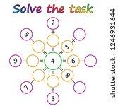 worksheet. mathematical puzzle...   Shutterstock .eps vector #1246931644