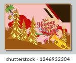 happy new year greeting card... | Shutterstock .eps vector #1246932304