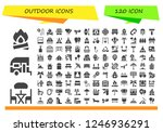 vector icons pack of 120 filled ... | Shutterstock .eps vector #1246936291