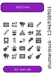vector icons pack of 25 filled... | Shutterstock .eps vector #1246938901