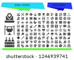 vector icons pack of 120 filled ... | Shutterstock .eps vector #1246939741
