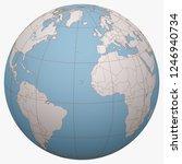 cape verde on the globe. earth...   Shutterstock .eps vector #1246940734
