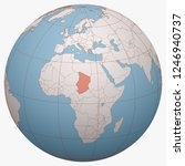 chad on the globe. earth...   Shutterstock .eps vector #1246940737