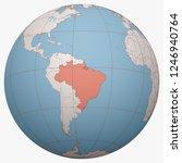 brazil on the globe. earth... | Shutterstock .eps vector #1246940764
