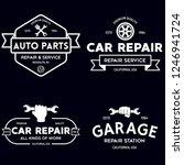 set of vintage monochrome car... | Shutterstock .eps vector #1246941724
