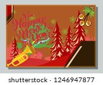 happy new year greeting card...   Shutterstock .eps vector #1246947877