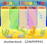 school timetable with marine... | Shutterstock .eps vector #1246949941