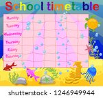 school timetable with marine... | Shutterstock .eps vector #1246949944