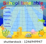 school timetable with marine... | Shutterstock .eps vector #1246949947