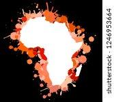 sketch blot dotty african...   Shutterstock . vector #1246953664