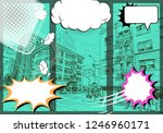 comic book layout template... | Shutterstock .eps vector #1246960171
