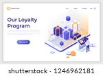 landing page with gift boxes ... | Shutterstock .eps vector #1246962181