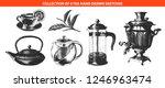 engraved style tea drink...   Shutterstock . vector #1246963474