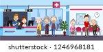 cartoon patients waiting in...   Shutterstock .eps vector #1246968181
