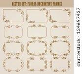 vector set of decorative ornate ... | Shutterstock .eps vector #124697437