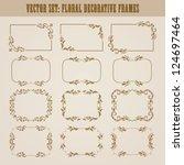 vector set of decorative ornate ... | Shutterstock .eps vector #124697464