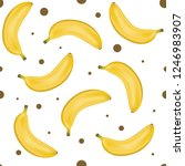 yellow banana seamless pattern. ... | Shutterstock .eps vector #1246983907