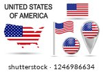 united states of america. usa... | Shutterstock .eps vector #1246986634