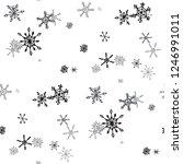 snowflakes. seamless christmas... | Shutterstock .eps vector #1246991011