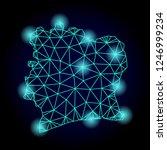 glossy polygonal mesh map of... | Shutterstock .eps vector #1246999234