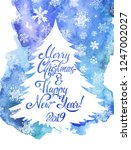 merry christmas and happy new... | Shutterstock .eps vector #1247002027