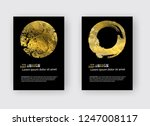 vector black and gold design... | Shutterstock .eps vector #1247008117
